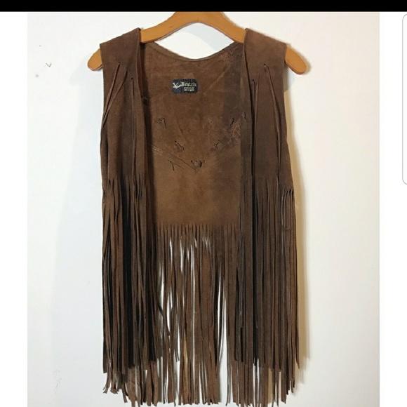 Jackets & Blazers - Flash sale!!!! Vintage 100% Leather fringe vest